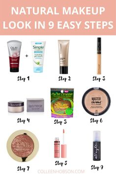 """Learn how to create a natural """"no makeup"""" makeup look that's effortlessly beautiful. #naturalmakeup #makeuptutorial Natural Everyday Makeup, Natural Makeup Looks, Natural Beauty Tips, Simple Makeup, Elegant Makeup, Everyday Makeup Tutorials, Everyday Makeup Routine, Carnival Makeup, Makeup Tutorial Step By Step"""