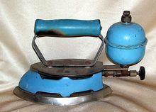 Coleman Blue Clothes Gas Ironing Iron
