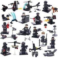 ~55-65 Pieces One Ounce Of Assorted LEGO Minifigure Weapons
