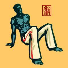 Encres : Capoeira – 621 [ #capoeira #mypaint #illustration]