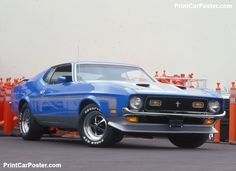 Ford Mustang Boss 351 1971 poster, #poster, #mousepad, #Ford