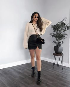 Edgy Outfits, Winter Fashion Outfits, Mode Outfits, Look Fashion, Girl Outfits, Fashion Moda, Stylish Winter Outfits, Cute Casual Outfits, Pretty Outfits
