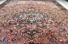 7'10 x 10'9 Fine Genuine Semi Antique Persian Heriz Serapi Hand Knotted Wool Rug #Persian