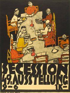 Egon Schiele, Plakat Secession. 49. Ausstellung, 1918