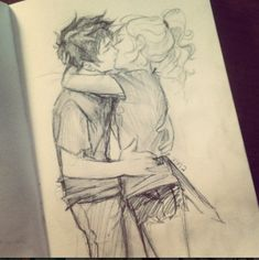 Percy Jackson and Annabeth Chase Fan Art by Fan Art by Viria Percy Jackson Fan Art, Percy Jackson Fandom, Percy And Annabeth, Annabeth Chase, Percabeth, Oncle Rick, Cute Couple Drawings, Burdge, Tio Rick