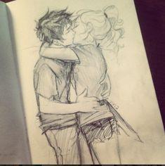 Percabeth sketch by Viria <3 :-)