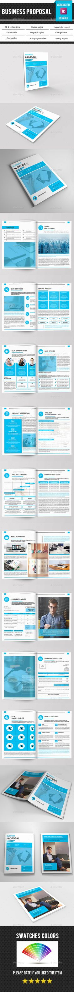 Black Multipurpose Indesign Proposal Templates  More Proposal