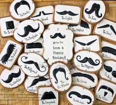 Mustache Birthday Cookies by Whisked Away Cookies, via Flickr