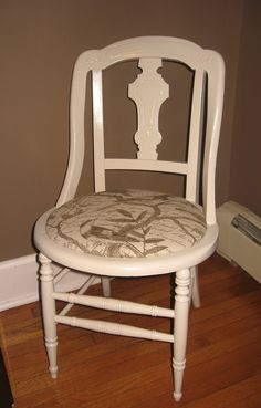 How to remove a broken cane seat and create a new upholstered seat for an old chair