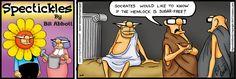 """Spectickles"" Sunday Comic - The Socratic Girth - Bill Abbott Cartoons"
