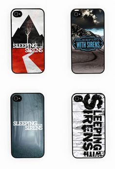 SLEEPING WITH SIRENS iPhone 4/4s case (the 2nd one preferably)- £6.95