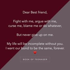 Dedicated to my bff ❤mahi❤ Besties Quotes, Best Friend Quotes, True Quotes, Bestfriend Quotes Deep, Dear Best Friend, Friend Poems, Depressing Quotes, Heart Quotes, Deep Quotes