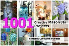 1001 (one Thousand!) Creative Mason Jar Projects - http://www.diyprojectsworld.com/1001-one-thousand-creative-mason-jar-projects.html