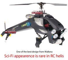 Walkera HM CB180Q2 4 Channel Radio Control Helicopter (2.4Ghz Black Edition)
