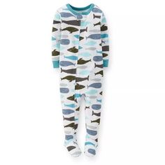 Carter Spring whale rib cotton coveralls zipper foot pajamas home service package, size 80cm, 36.60rmb