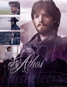 Athos graphic that I created from the BBC series The Musketeers.