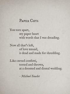 interesting but depressing poem I feel like Dessa and her ex felt this way individually when they broke up.