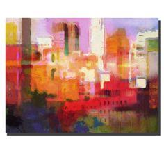"Trademark Fine Art Adam Kadmos 'City Colors' 18"" x 24"" Canvas Art"