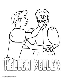 World History Coloring Pages Printables Helen Keller Ann Sullivan