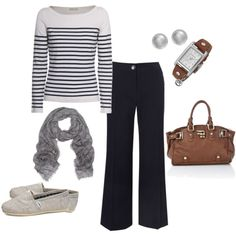 Teacher Outfit-- love it... Looks comfy, but I'd wear different shoes, even though I love TOMS