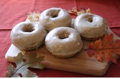 Pumpkin Spiced Donuts with Chai Icing