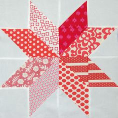 Make - 8 pointed star quilting block