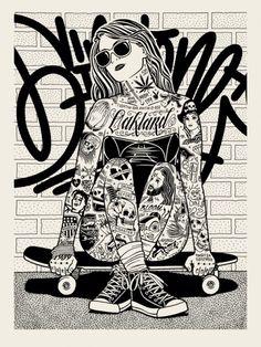 cross leg skater by Mike Giant