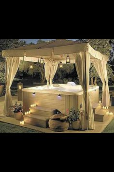 ...a hot tub for two.