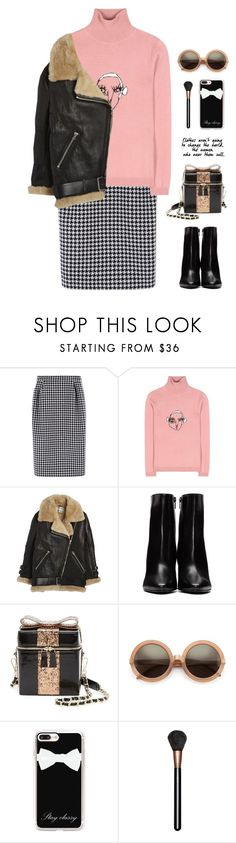 """Untitled #444"" by ino-6283 ❤ liked on Polyvore featuring MaxMara, Shrimps, Acne Studios, Yves Saint Laurent, Alice + Olivia, Wildfox, Casetify and MAC Cosmetics"
