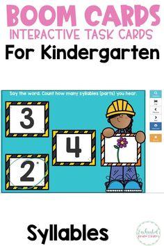 Home – Enchanted Kinder Garden Prek Literacy, Kindergarten Games, Literacy Centres, Preschool Learning Activities, Interactive Learning, Preschool Alphabet, Teaching Resources, Teaching First Grade, Syllable