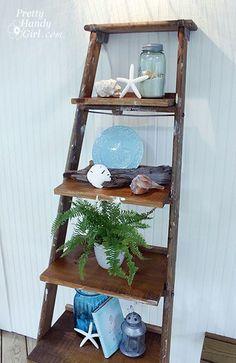 20 Idee per riciclare vecchie scale di legno   donneinpink magazine