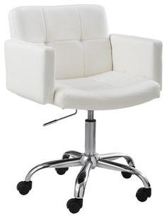 Churchill Office Chair, White - modern - task chairs - Inmod