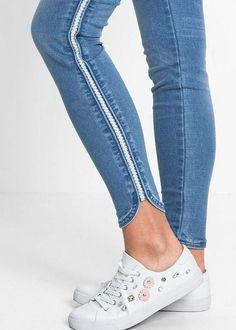 Dżinsy Super Skinny z połyskującą wstawką • 109.99 zł • bonprix