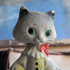 c. 1970...   vintage toy... rubber cat...  for home by CoolVintage, $17.50