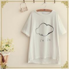 Buy 'Fairyland – Cloud Print Short-Sleeve T-Shirt' with Free International Shipping at YesStyle.com. Browse and shop for thousands of Asian fashion items from China and more!