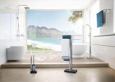 Stojak na papier toaletowy ze szczotką do WC MENOTO, matowy - BLOMUS - DECO Salon #bathroomaccessories #bathroom