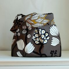 Hey, I found this really awesome Etsy listing at http://www.etsy.com/listing/151756794/funky-tree-fabric-pleated-hobo-handbag