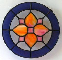 """Little Lotus Petals"" stained glass by Gary & Linda Peterson, $40 #genswartists #stainedglass"