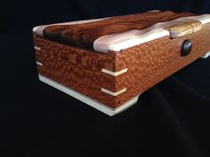 Decorative Boxes : Beautiful combination of leopardwood and maple in this box -Read More – Woodworking Box, Woodworking Projects, Quick Diy Jewelry, Decorative Objects, Decorative Boxes, Box Maker, Wooden Jewelry Boxes, Small Boxes, Wood Boxes