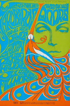 The Psychedelic Poster Craze of the Band Posters, Cool Posters, Music Posters, Psychedelic Drawings, Psychedelic Posters, 60s Art, Poster Maker, Black Light Posters, Kunst Poster
