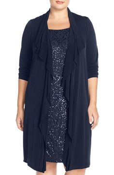 London Times Sequin Lace Jacket Dress (Plus Size) available at #Nordstrom