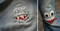 Heal Your Jeans With A Monster Mouth Patch