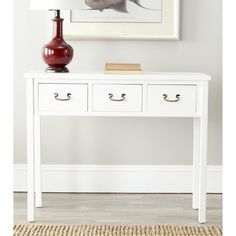 Cindy White Console Table | Overstock.com   cute but wish longer