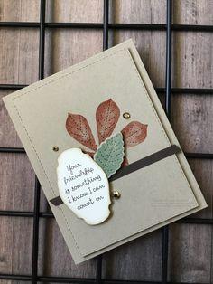 Leaf Cards, Leaf Images, Old Cards, Flower Center, Paper Pumpkin, Paper Design, Fall Halloween, Stampin Up Cards, I Card