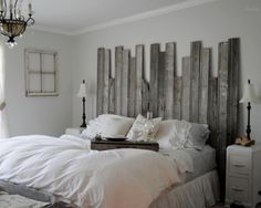 Bedroom Rustic Headboard Design, Pictures, Remodel, Decor and Ideas
