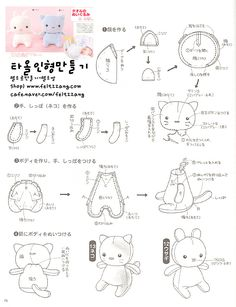 Babies-how to. Plushie Patterns, Softie Pattern, Animal Sewing Patterns, Sewing Patterns Free, Free Sewing, Sewing Tutorials, Sewing Crafts, Sewing Projects, Clay Tutorials