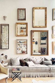 How to turn up the glamour at home: add a mirror wall — The Decorista