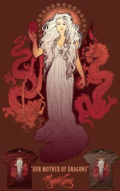 Cool Art: 'Our Mother Of Dragons' by Megan Lara. A Game Of Thrones inspired illustration.Future Luna Guitars?
