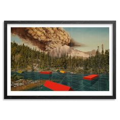 Mary Iverson Art Print - Mount Rainier - Hand-Embellished Edition | 1xRUN
