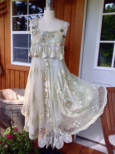 A personal favorite from my Etsy shop https://www.etsy.com/listing/235708299/crochet-dress-by-luv-lucy-boho-summer